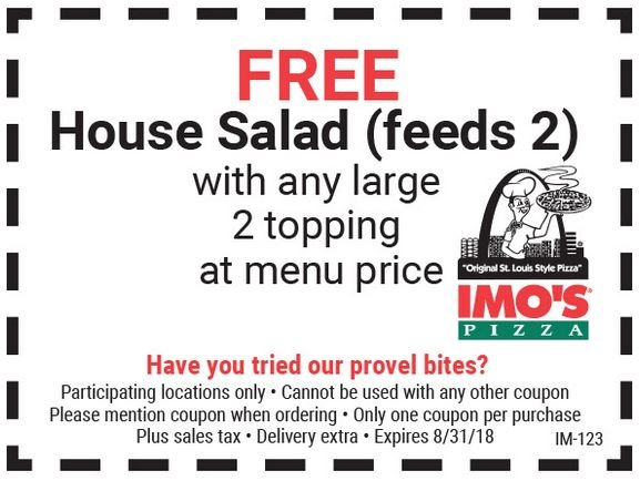 photo regarding Imos Coupons Printable identify Imos Pizza Coupon codes, Promo Codes Specials Sep-2019
