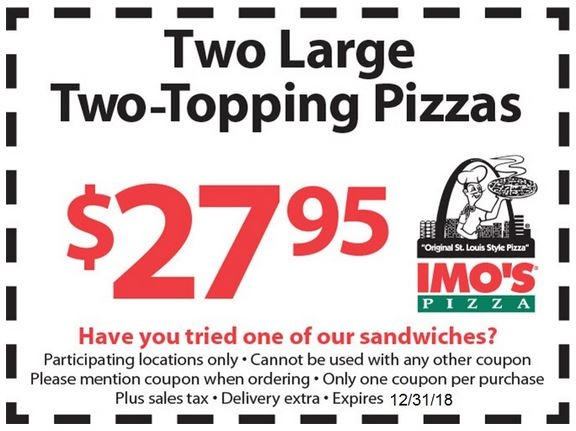 graphic regarding Imos Coupons Printable referred to as Imos Pizza Discount coupons, Promo Codes Discounts Sep-2019